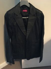 Leather jacket and trousers