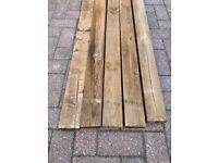 1 x 3.6 metre long 87 x 38 wooden timber fence rail