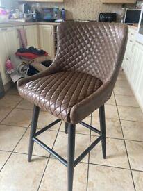 4 x Dunelm faux leather bar stools