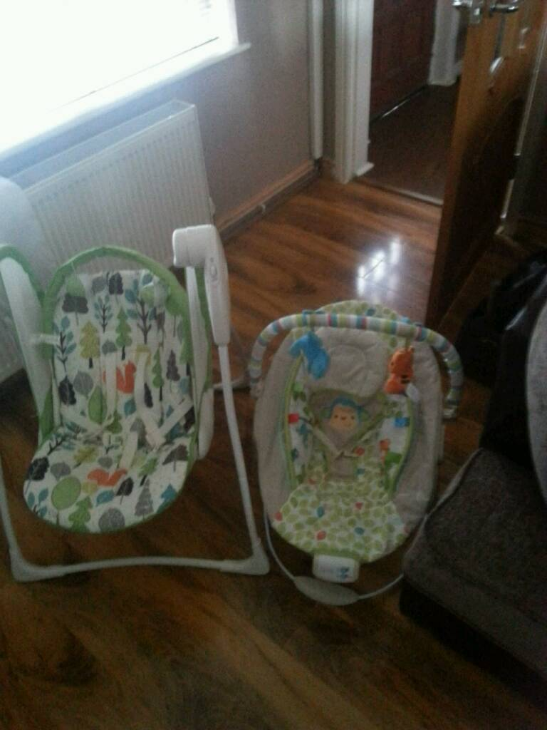 Battery operated baby swing & baby bouncer chair