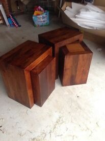 NEXT Nest of tables x 2, dark wood - good as new condition, can split if required