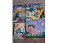 4 x Children's Spanish books Bob builder, Dora Explorer, Thomas Tank £13