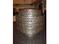 Beautiful metal lattice Moroccan type pattern light shade