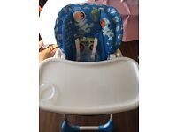 chicco polly highchair Blue Excellent Condition