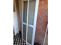 Aluminium double glazed door with frame