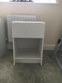 2 x Bed side cabinets.