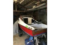 Boat project with trailer. Engine available.