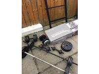 Now sold - Weights bench and weights