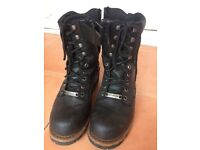 Men's genuine leather Harley Davidson motorbike boots