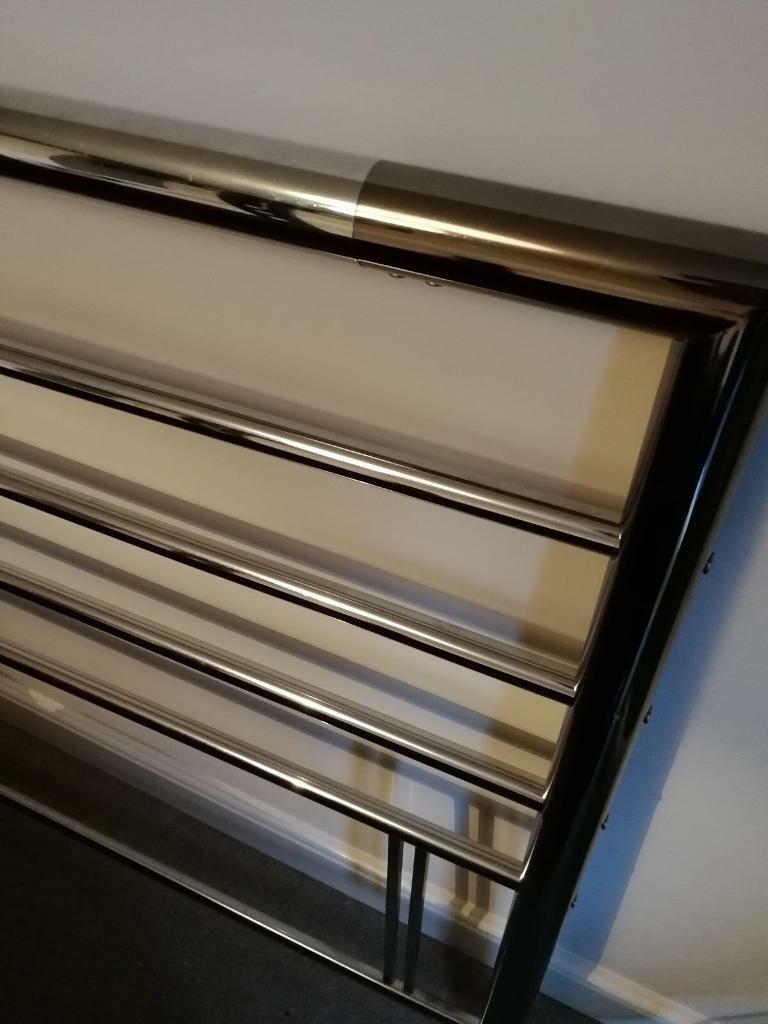 Chrome headboard