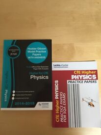 SQA Higher Practice papers (multiple subjects) excellent condition / will sell individually