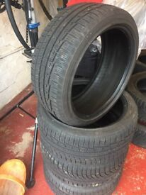 Winter tyres set of 4 . 215/40 R17 fit Audi A1