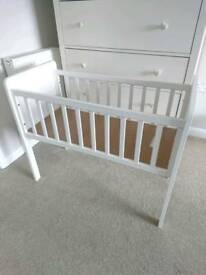 Mothercare white wooden crib and mattress - 2 available