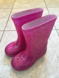 Pink wellies junior size 6