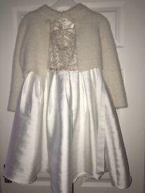 Age 9 next cardigan & monsoon dress immaculate