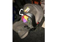 Graco car seat with Lamaze dog toy