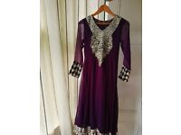 Indian Pakistani Designer with Tilla embroidery Wedding Farak full Suat new Dress krincal shafoon