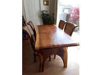 Rustic Dining Table and 4 Chairs. Will split.