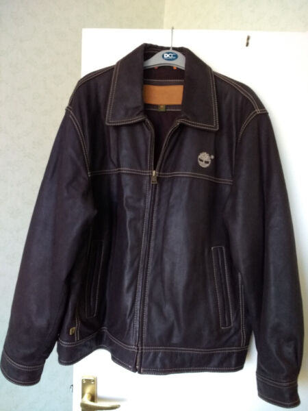 Used, TIMBERLAND COWHIDE LEATHER MEN BROWN JACKET Size Medium for sale  Llandaff, Wales