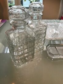 Vintage 1950s Clear Glasware Collection 10 + Beautiful Useful/Decorative Pieces