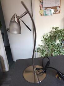 """""""dar"""" designer desk table lamp stainless steel.."""