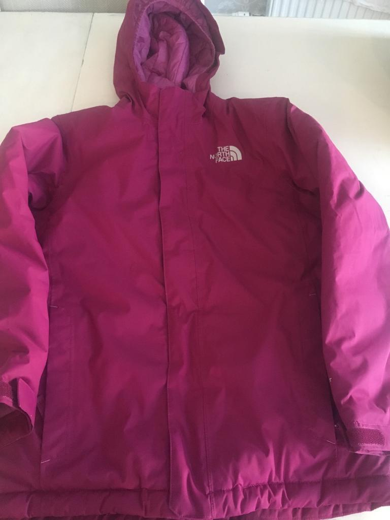 Perfect condition girls The North Face Ski/winter jacket age 13/14