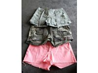 Three pairs shorts size 12. Immaculate