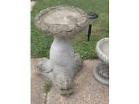 2x bird bath - garden ornament £12 each