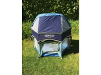 Graco Pack n Play Sport Playpen - portable UV resistant with removable sun canopy