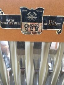 Firth stainless steel 38 piece cutlery service