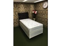Single Bed. Brand New in Factory Wrapping. Candy Orthopaedic Divan Bed. Base & Mattress