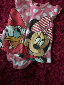 Disney Minnie Mouse romper 3-6 months