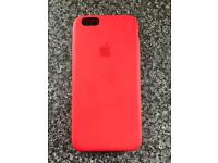 Apple iPhone 6s genuine Red Silicone case rrp £35