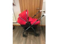 Silver Cross Wayfarer chilli and graphite *includes iso-fix base & car seat*