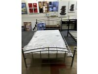 Double Bed Frame Chatsworth Grey Metal