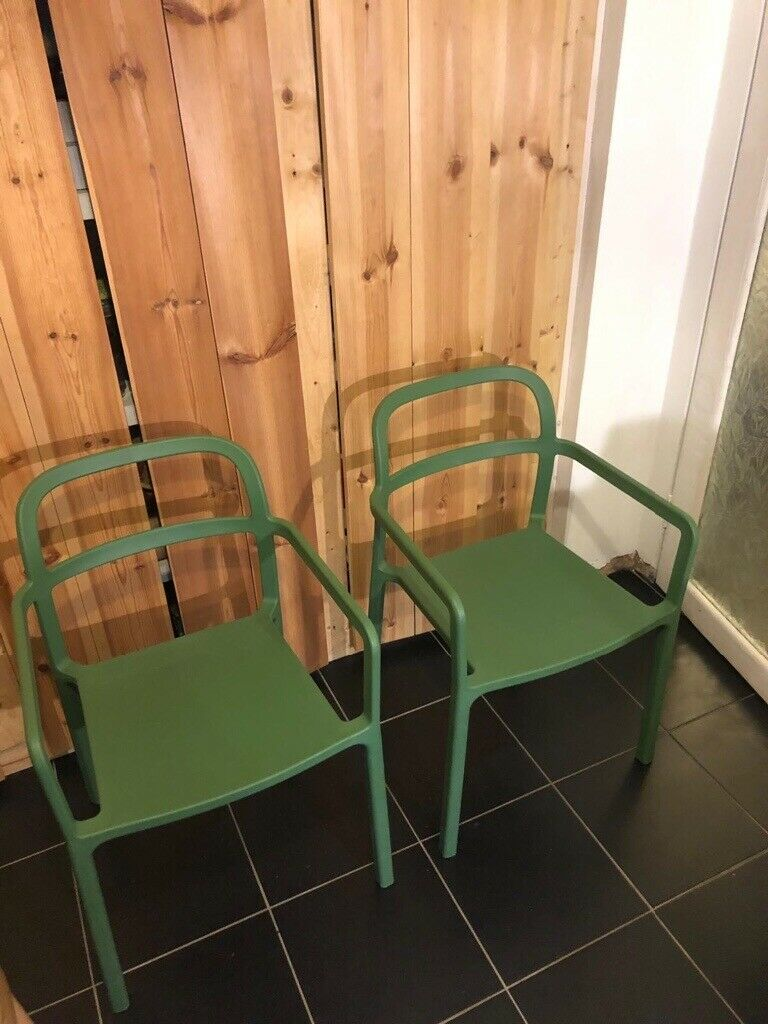 Ikea x HAY YPPERLIG Indoor Outdoor Green Chairs x2 | in Hackney, London | Gumtree