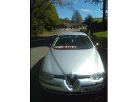Alfa Romeo 156 2.0 T Spark Lusso. Silver. 2001. 76800 miles