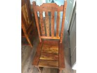 Mango Indian made light coloured Table and 4 chairs ( will fit 6)