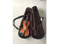 Violin 1/2 size £25. Excellent condition and only requires one new string. Buyer to colkect