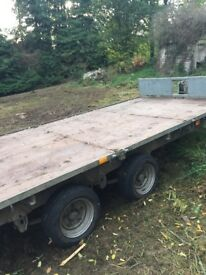 Ifor Williams flatbed trailer 16x6 double axle.
