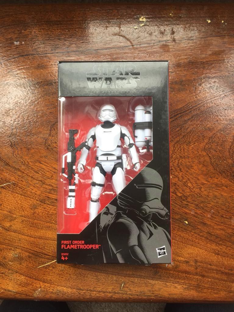 Star Wars black series, storm trooper various types