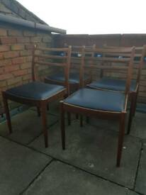 G Plan dining chairs x 4
