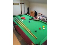 6' x 3' Slate bed snooker table