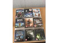 9 ps3 games perfect condition