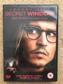 JOHNNY DEPP SECRET WINDOW DVD