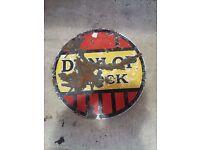Dunlop tyre stock enamel sign