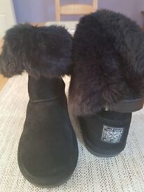 Girls next black ugg type boots worn once
