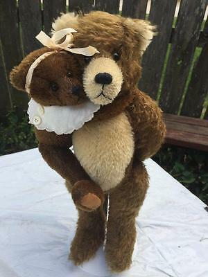 Thurston McMindes Supervision Made Mohair Bear Set Gladstone & Sara OOAK Signed