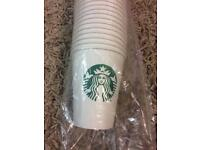 Starbucks 50 paper coffee tea cups 300ml