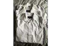School Uniform for sale 3 M&S 14.5 collar white long sleeve shirts